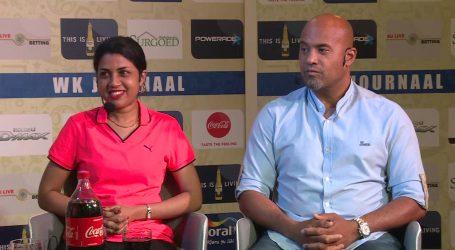 Natio trainer Dean Gorré en Sportminister Gopal sluiten WK Journaal af