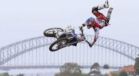 Freestyle motorcrosserkampioen,Tomas Pagės, heeft zijn kunnen getoond die doormiddel van een drone werden vastgelegd.