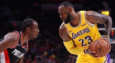 LeBron James helpt LA Lakers voor het eerst in 17 duels langs Portland