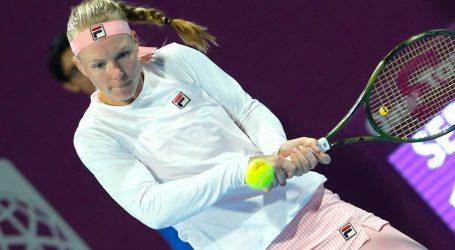 Kiki Bertens heeft zich geplaatst voor de kwartfinales van het WTA-toernooi
