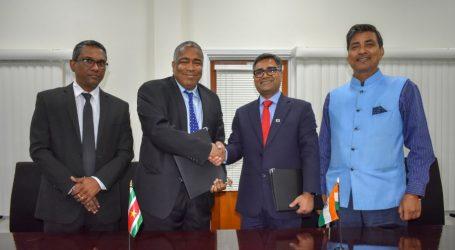 Suriname tekent overeenkomst met EximBank India