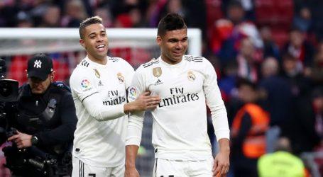 Real Madrid heeft zaterdag de derby tegen stadgenoot Atlético gewonnen