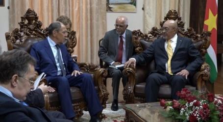 President Bouterse ontvangt minister Lavrov voor kort onderhoud