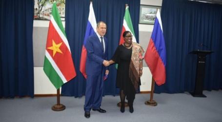 Minister Lavrov voor bilateraal onderhoud bij minister Beighle