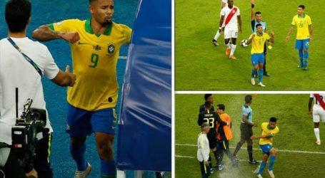 Jesus biedt excuses aan voor wangedrag na rood in finale Copa America