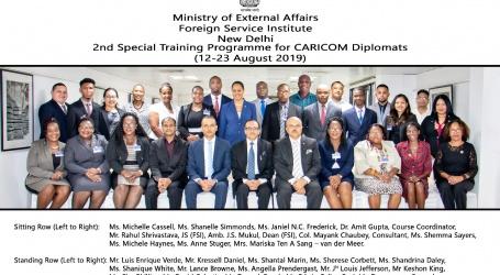 Suriname neemt deel aan Indiaas trainingsprogramma voor CARICOM diplomaten