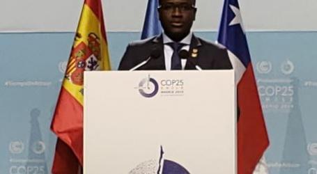 Minister Akiemboto spreekt UNFCCC toe