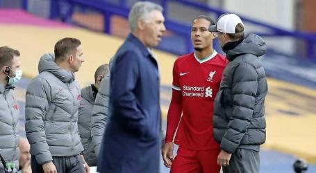 Liverpool vreest voor kruisbandblessure Virgil van Dijk.