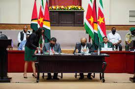 Samenwerking tussen Suriname en Guyana in volle gang
